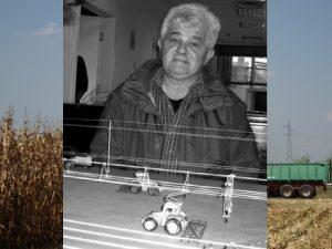 Živica Jankov sa svojom maketom Foto: Poljoprivrednik