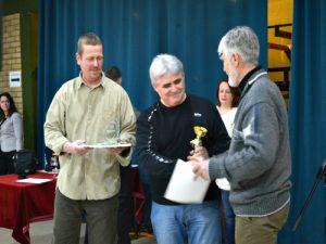S leva na desno: Laslo Ronto, Janoš Urban i Šandor Šomođi