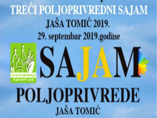 Poljoprivredni sajam u Jaši Tomić 29. septembra